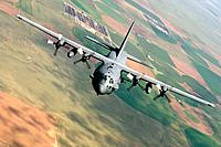 An AC-130 Spectre from the 16th Special Operations Squadron flies a training mission Aug  11, 2010, at Cannon Air Force Base, N  M