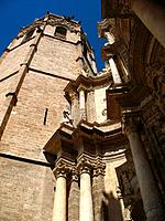 Bell tower (aka Micalet or Miquelet) of cathedral, Valencia, Comunidad Valenciana, Spain
