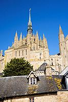 Mont-Saint Michel abbey, listed as World Heritage by UNESCO, Manche department, Lower Normandie region, France