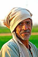 Egyptian fellah, countryside Man portrait, Egyptian Village of El Shohada  Menoufia, Egypt
