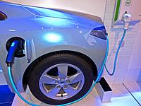 Paris, France, Renault Car Showroom on Champs-Elysses, Display of New Green Cars, Electric Charger, Detail