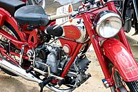 Ancient Guzzi motorcycle