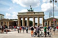People at the Brandenburg Gate, Berlin, Germany