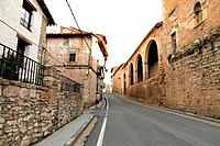 Parish church Villarroya de los Pinares village Teruel province Aragon Spain