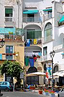Balconies Laundry Cafe Amalfi Italy Mediterranean Sea Coast Cruise Europe