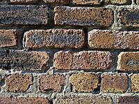 BRICK TEXTURE Old sand blasted brick wall