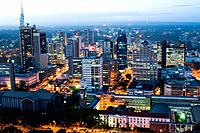 Aerial view of city at night looking north nairobi kenya