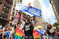 Lesbian Gay Bisexual and Transgender Pride March Parade Manhattan New York City USA