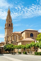 Exempt tower of the Cathedral of Santo Domingo de la Calzada. La Rioja. Spain. Europe.