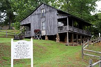 replica re-created butcher holler house home at loretta lynn dude ranch hurricane mills tennessee usa