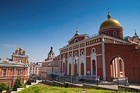 Iversky nunnery Monastery in summer day near Volzhsky prospect In Samara Russia