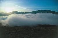 Italy - Emilia Romagna Region - Modenese Apennins - Passo delle Radici, sunset.