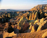 Turkey, Cappadocia, rock formations in Kizil Cultur Valley