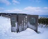 Wakkanai park, nine maiden monument, Wakkanai, Hokkaido, Japan