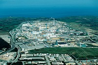 La Hague plutonium factory in Normandy, France.