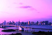 View of Tokyo from Odaiba, Tokyo Prefecture, Honshu, Japan