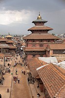 overview of Pashupatinath, Kathmandu, Nepal, South Asia