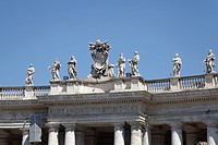 Statues of St. Peter´s Basilica, Vatican City, Rome, Lazio, Italy, Europe