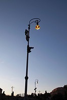 view of streetlamp in Celio, Lazio, Italy, Europe