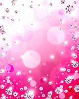 Rose, sequins and circles, CG