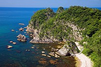 Uradome coast, Kamogaiso, Country specification natural monument, place of scenic beauty, Iwami, Tottori, San_In,Japan