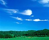 Clouds over rural landscape. Kimobetsu_machi, Hokkaido, Japan