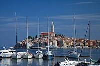 Port, old city, Rovini, Croatia, Europe
