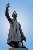Low angle view of a statue, Jawaharlal Nehru statue, Bangalore, Karnataka, India