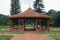 Structure in a botanical garden, Lal Bagh Botanical Garden, Bangalore, Karnataka, India