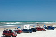 CARS PARKED ON BEACH DAYTONA BEACH FLORIDA USA