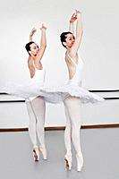 Women in ballet costumes dancing