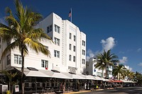 OUTDOOR CAFES BEACON HOTEL OCEAN DRIVE SOUTH BEACH MIAMI BEACH FLORIDA USA