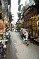 People walking in a street, Chandni Chowk, Delhi, India