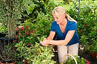 Mature woman gardening