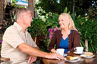 Mature couple in cafe (thumbnail)