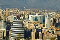 Panoramic view of Santiago city, Chile