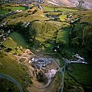 Ariel view of Great Orme Copper Mine.