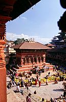 Durbar Square is a market square in Kathmandu,Nepal. Its is home to numerous temples and the square is often used as a marketplace. It is part of a UN...