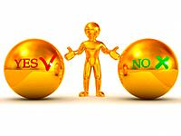 Choise YES or NO. 3d