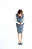 Businesswoman bowing