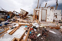 A home destroyed by a tornado in Joplin, Missouri, May 25, 2011  On May 22, 2011, Joplin Missouri was devastated by an EF-5 tornado