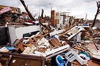 The remains of a home destroyed by a tornado in Joplin, Missouri, May 25, 2011  On May 22, 2011, Joplin Missouri was devastated by an EF-5 tornado