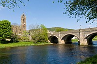 Bridge over the River Tweed at Peebles, Scottish Borders, Scotland, UK