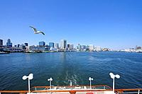 Cityscape of Tokyo from a ship, Minato Ward, Tokyo Prefecture, Honshu, Japan