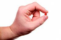 Hand, pill