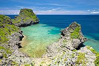 Rocky beach, Maeda_zaki Misaki, Onna_son, Okinawa Prefecture, Japan