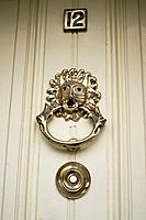 beautiful oranate bronze door knocker