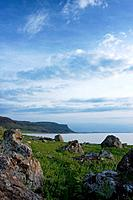 View of Loch Na Keal in late afternoon sun, Isle of Mull, Scotland