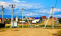 Lake Baikal. Olkhon island. Khuzhir settlement. Day.