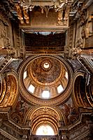 Detail of frescoed cupola interior of church, Sant´Agnese in Agone, Piazza Navona